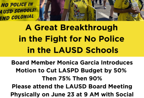 Voices Radio: Another chance to Defund the LASPD by 50%, then 75%, and finally 90%.