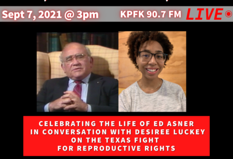 Today on Voices Radio: Celebrating Ed Asner & Desiree Luckey with Unite for Reproductive and Gender equalityin Texas
